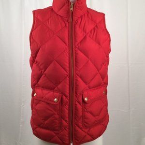 J Crew Red Quilted Excursion Vest XS